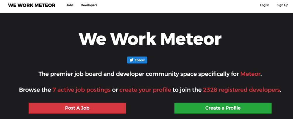 freelance web developer jobs - we work meteor