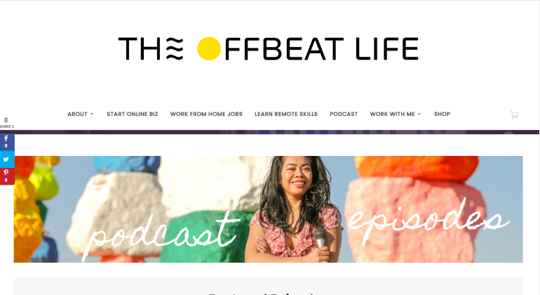 podcasts for freelancers- The Offbeat Life