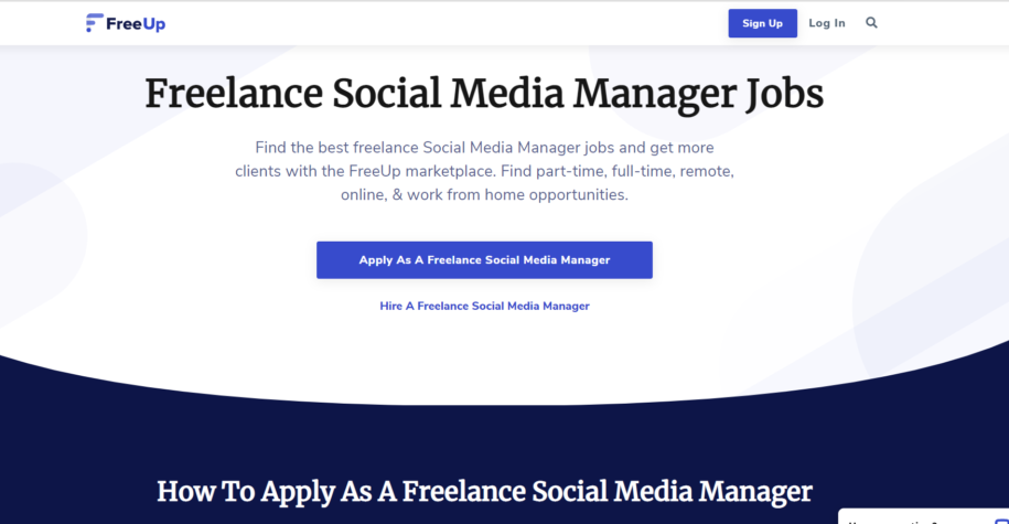 freelance social media manager - freeup