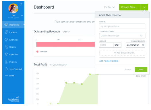 Freshbooks accounting software for freelancers