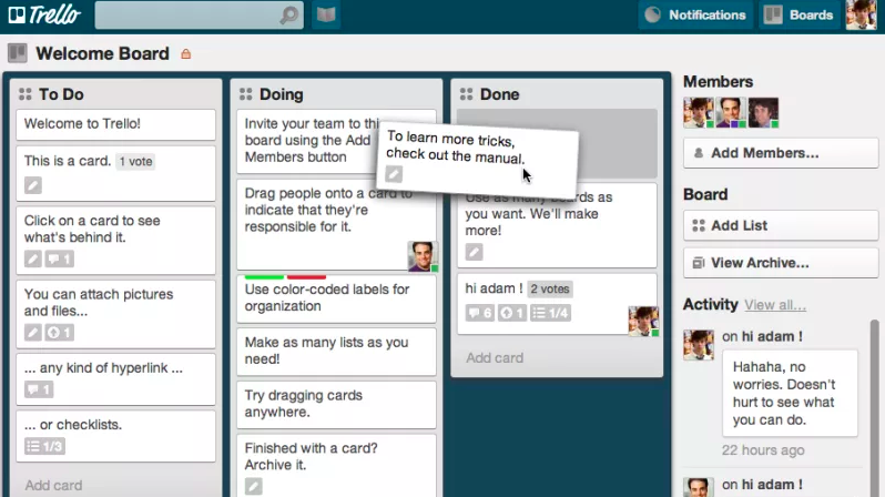 Tools for freelancers - Trello