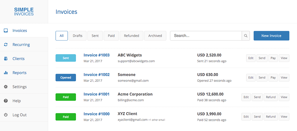 Tools for freelancers - Simpleinvoices.io